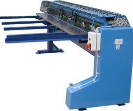 Cardboard slitting and bending machine