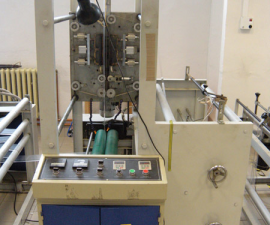 Bag making machine for production of bags with zip