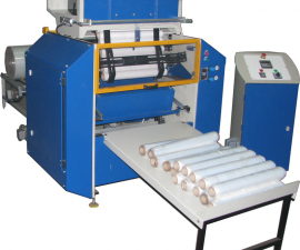 Full automatic machine for rewinding stretch i lm APS